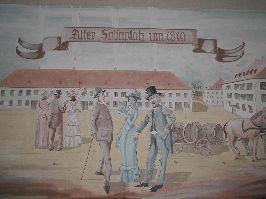 Salinplatz im Jahr 1810